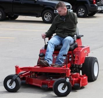 Country Clipper Again A Single Joystick Controls This Fun Zero Turn Landscaping Equipment Riding Mower Riding Lawnmower