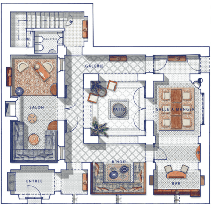 Privilege Riads House Plans Courtyard House Plans How To Plan