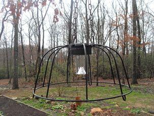 dollar store solar lamp and plant basket light