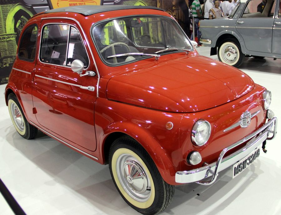 1961 FIAT 500 on display at the Mumbai International Motor show in Mumbai