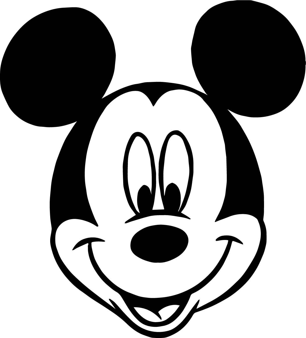 Mickey Mouse Face Cartoon Coloring Page Mickey Mouse Drawings