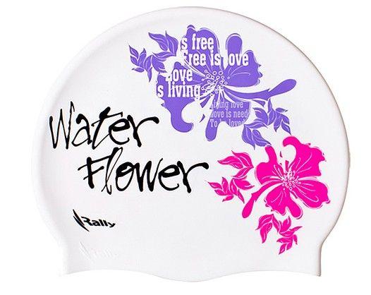 Qoo10.sg [Shoplinker] - Swimming Cap (Water Flower - White)