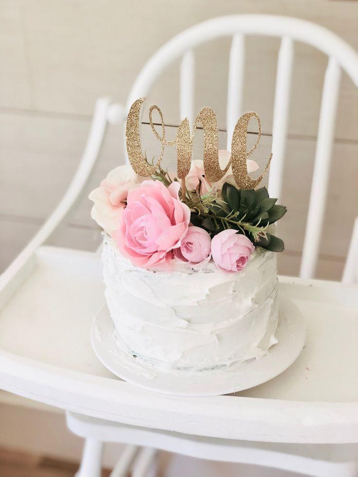 Ein Cake Topper | Erster Geburtstag Cake Topper | Glitter Gold Topper | Smash Cake Topper | Kuchendekoration zum 1. Geburtstag #erster #geburtstag #glitter #smash #topper #firstbirthdaygirl