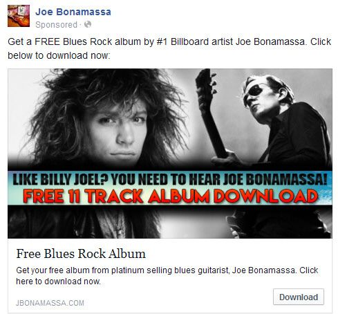 Not that I'm obsessed with Joe Bonamassa's playing, just his mind-boggling bad, laughter inducing, grammatically incorrect marketing campaign that implies he is similar to musicians he has no similarity to, and generally gets their names wrong anyway.