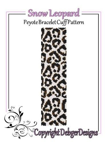 Snow Leopard - Beaded Peyote Bracelet Cuff Pattern | Pinterest ...