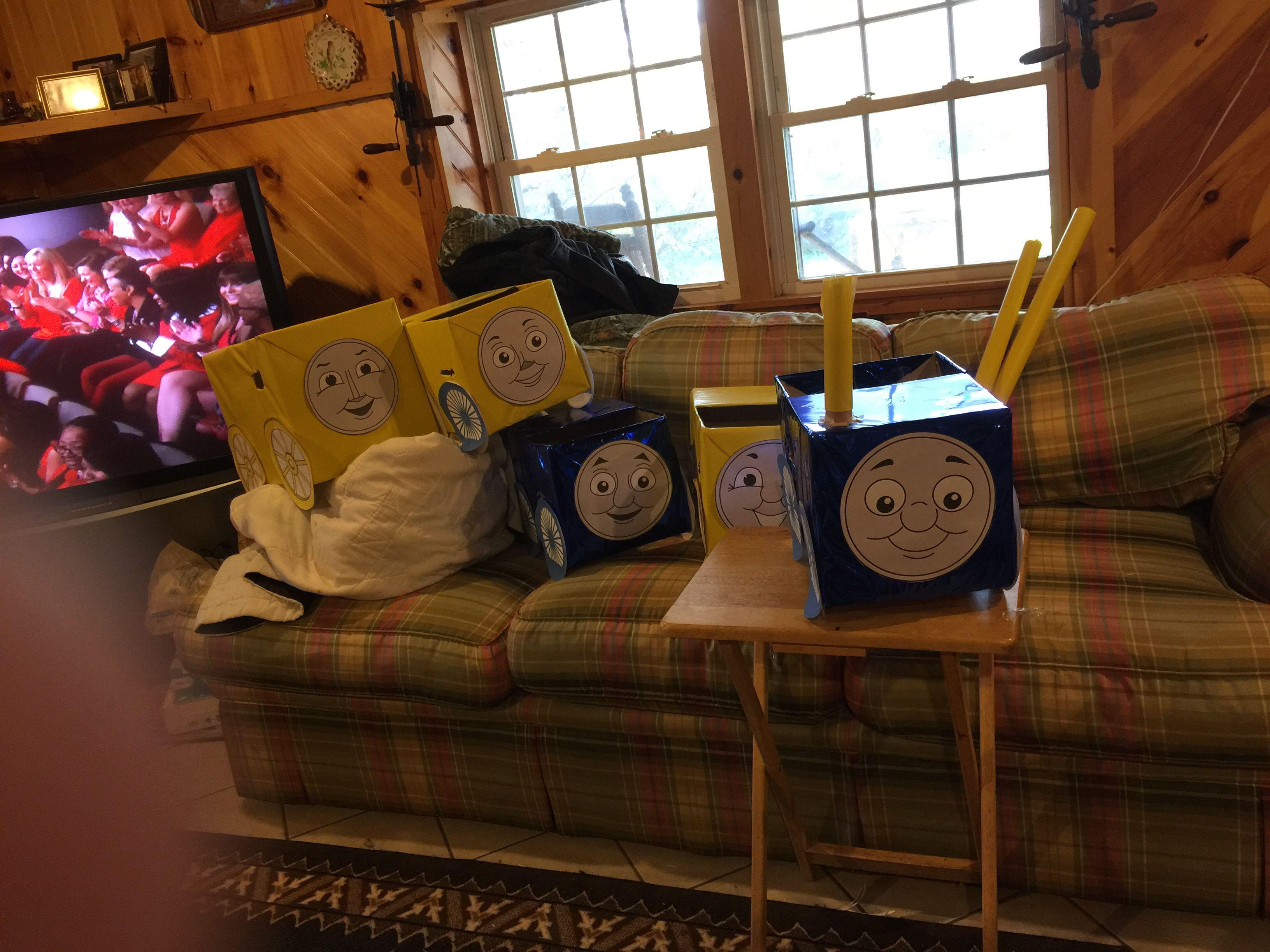 Landon's Thomas Train Party Props