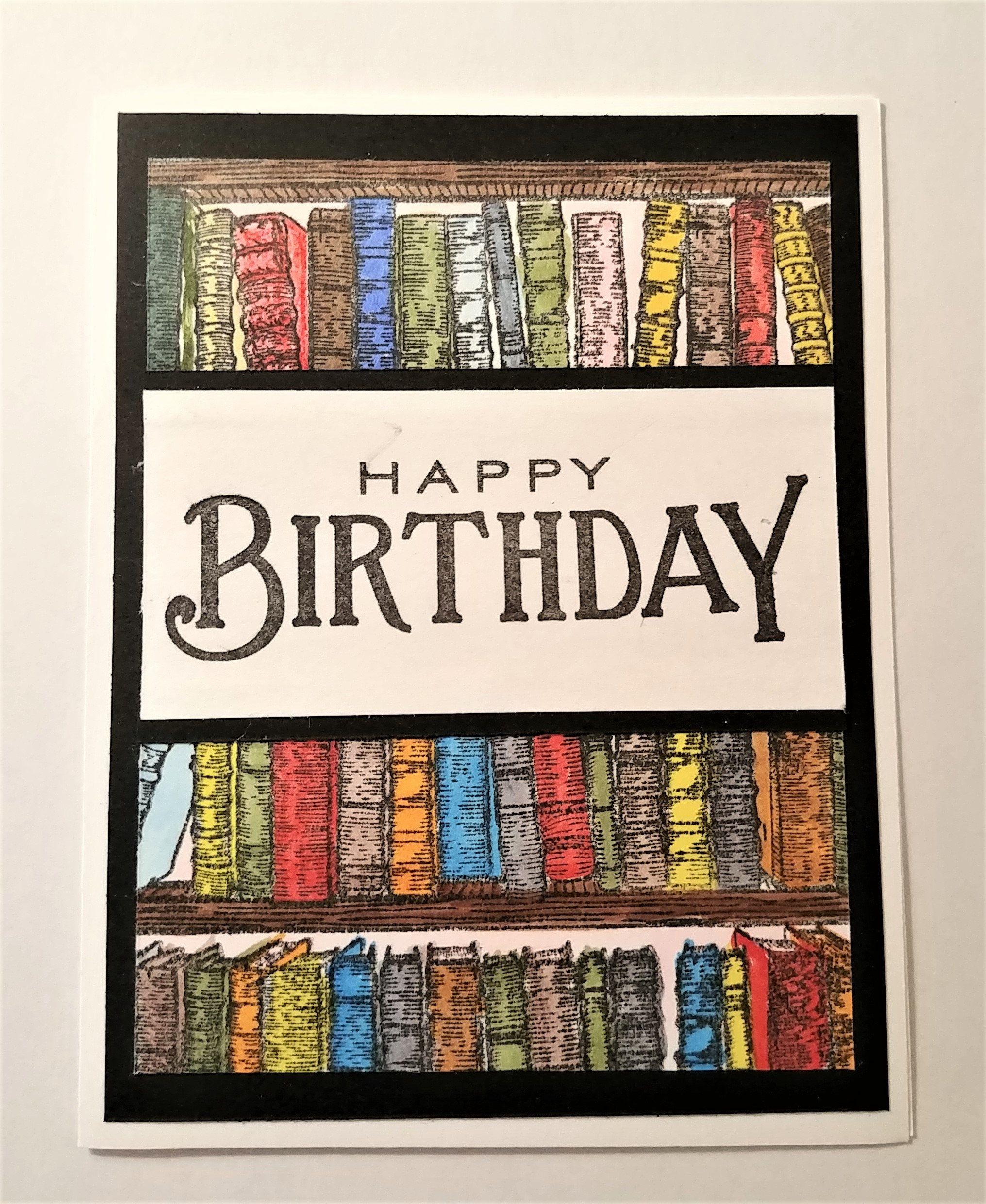 Book lover librarian birthday reader library card