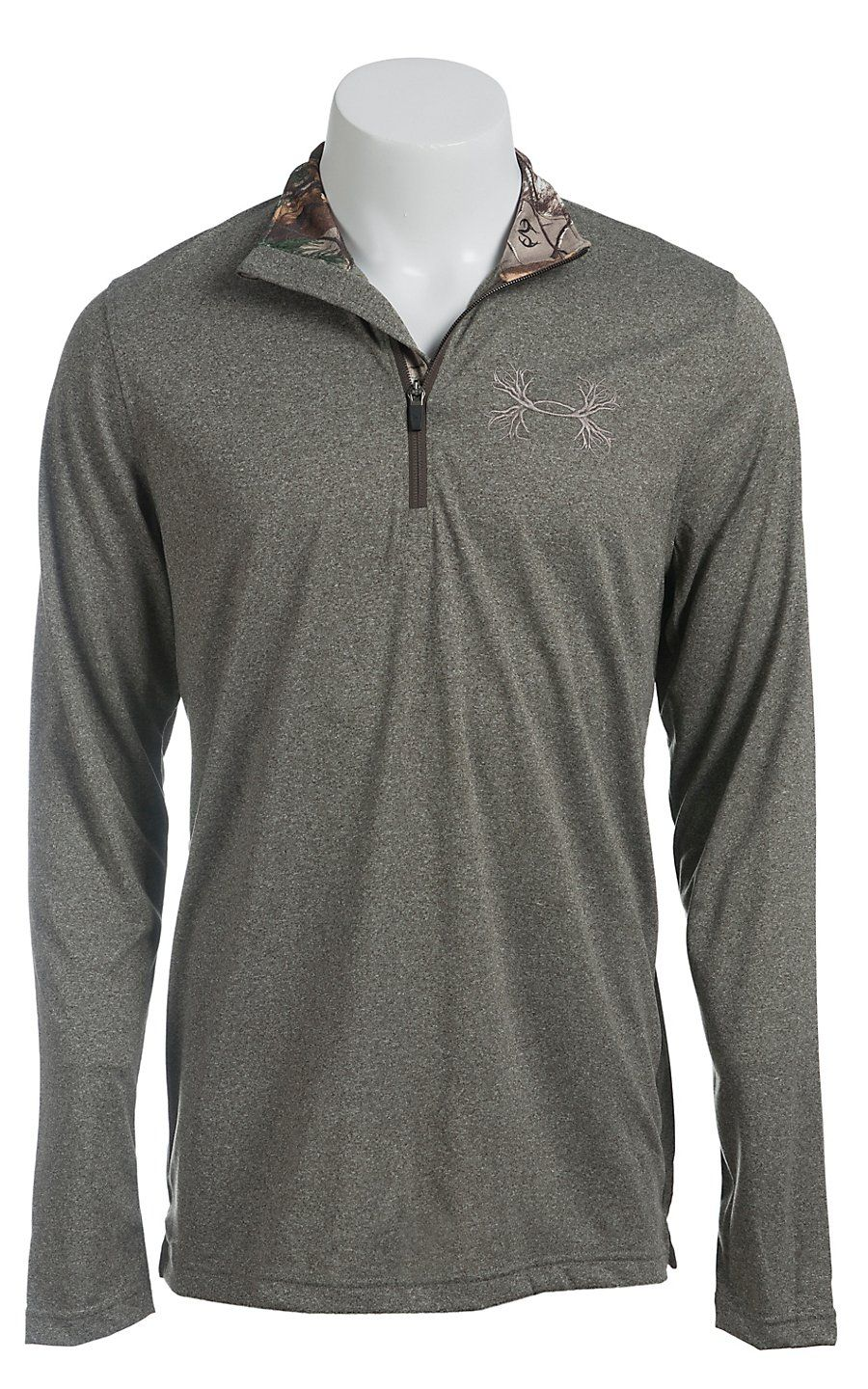 Under Armour Men s Owl Brown UA Tech Borderland 1 4 Zip Pullover a8f87ade38