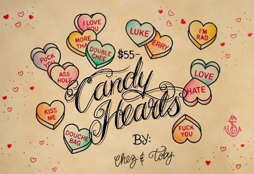 28671015a CANDY HEART TATTOOS...maybe a couple of these :) | ME | Heart tattoo ...