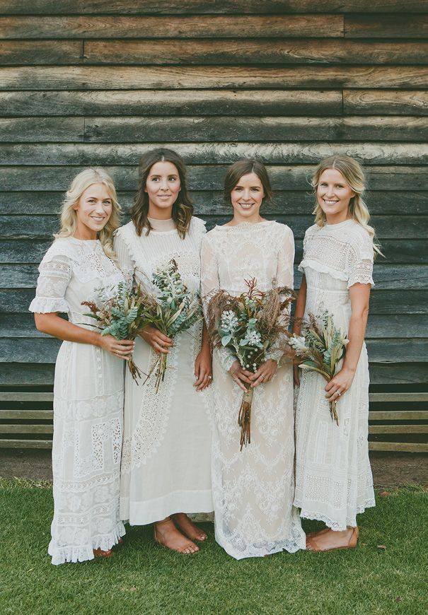 Kassy Cristobel Bridesmaid Dresses Boho Wedding Gowns Lace White Bridesmaid Dresses