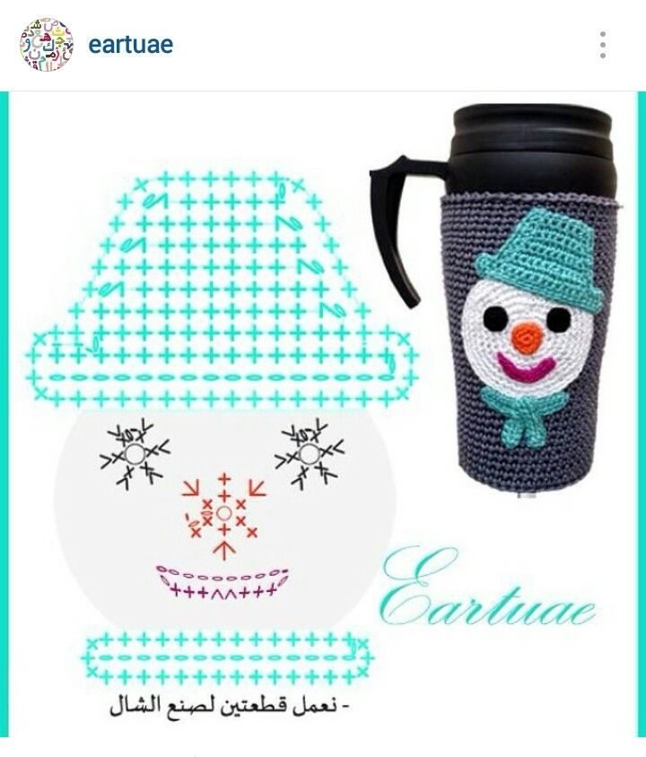 Instagram @eartuae - crochet snowman face applique | Christmas ...