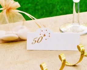 Place Cards 50th Golden Wedding Anniversary
