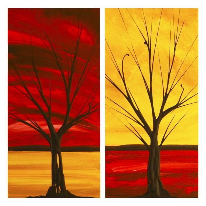 Acrylic paintings on canvas abstract art dapore for Red canvas painting ideas