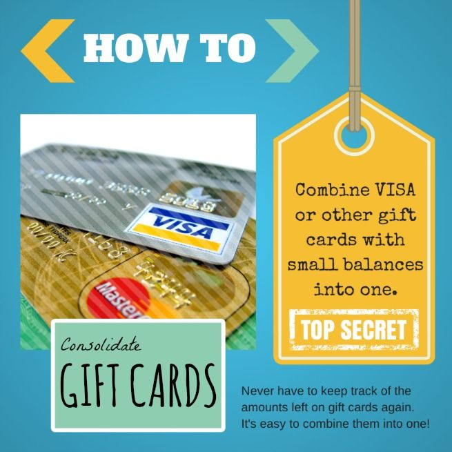 How to combine gift cards into one gift card consolidation consolidate gift cards combine visa or other low balance gift cards into one negle Image collections