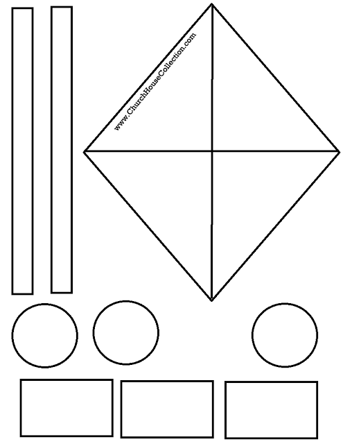 photo about Printable Kite Template identified as Kite Cutout Craft For Sunday College Small children James 4:10- No cost