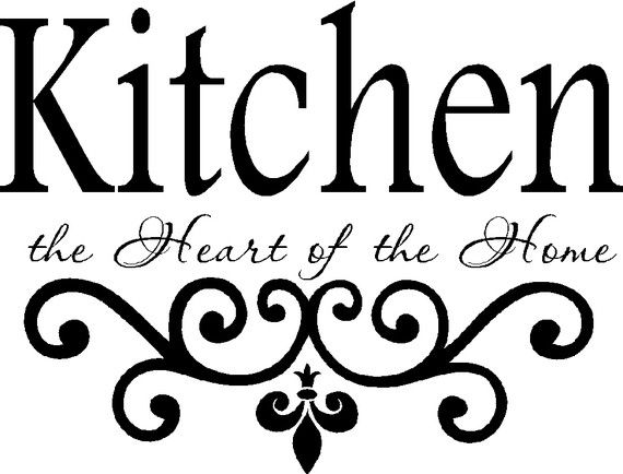 kitchen vinyl wall decal kitchen the heart of the home etsy vinyl wall decals kitchen on kitchen decor quotes wall decals id=31130