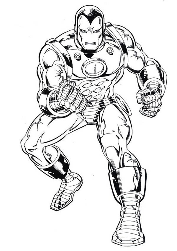 Iron Man Tank Heavy Combat Suit Coloring Page Netart In 2020 Coloring Pages Tank Man Iron Man
