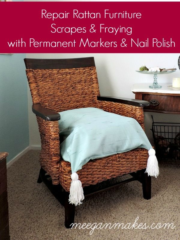 Rattan Chair Repair Kit Two Seater Chairs Uk How To A Diy Home Decor Pinterest Scrapes And Fraying On Furniture With Permanent Markers Nail Polish Easy Cheaper Than Buying