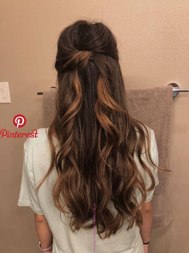 Pin By Neueste Frisuren On Frisur Machen In 2019 Pinterest Hair Hair Styles And Wedding Hairstyles Wedding Hair Down Hair Styles Medium Length Hair Styles