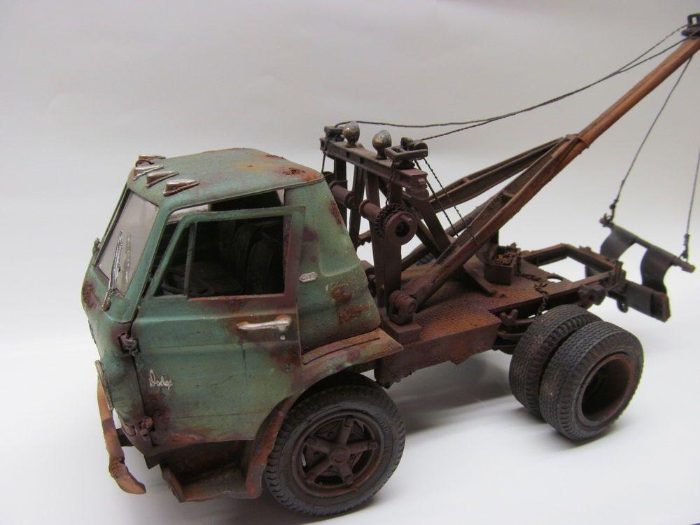 Dodge L-700 Tow Truck built junkyard junker | Tow truck, Truck ...