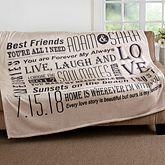 Personalized Fleece Blankets - 50x60 - I Love Us #sweetestdaygiftsforboyfriend