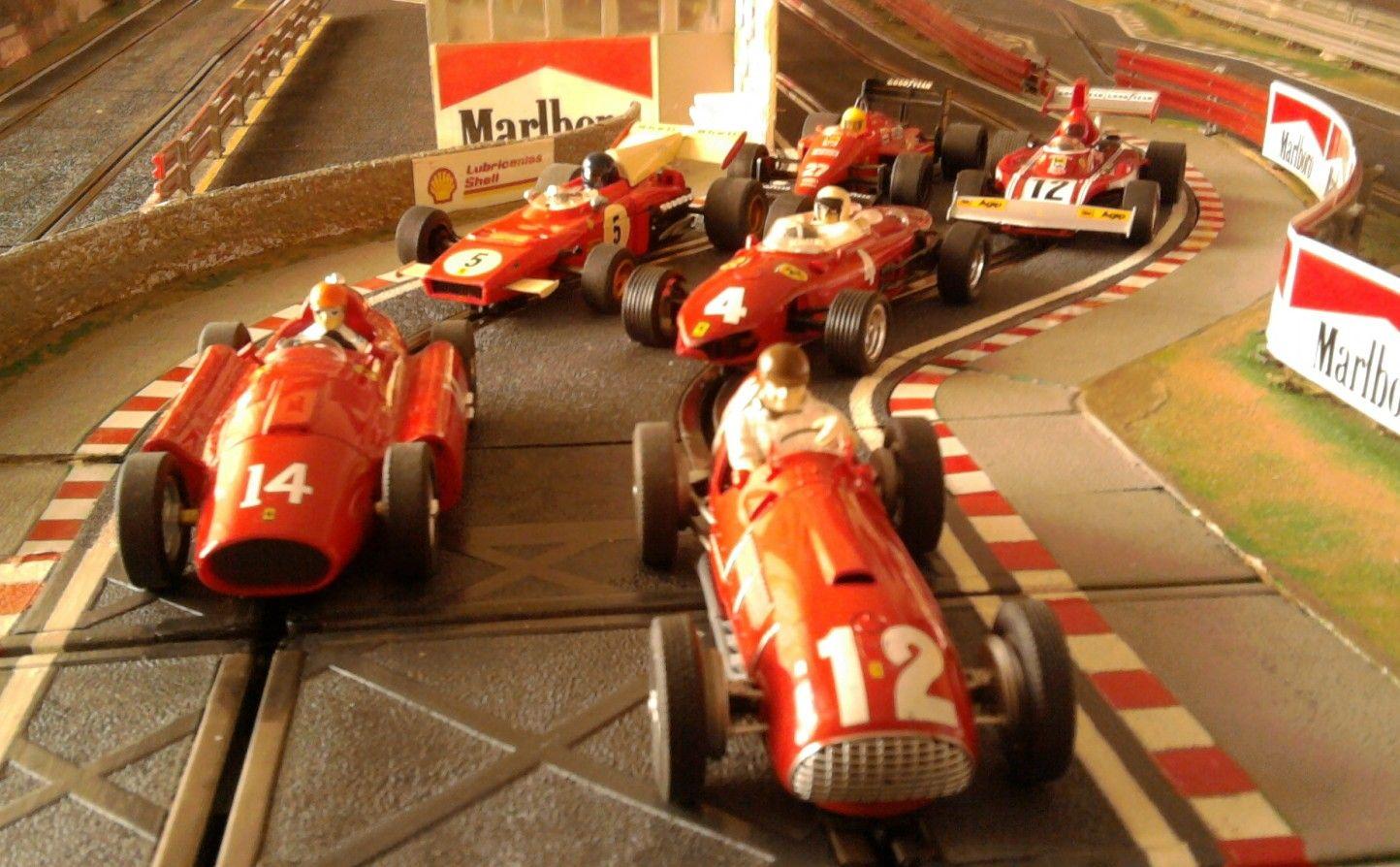 Mi Hobbie Favorito El Slot Una Gozada Disfrutar De La Conduccion De Estos Ferraris F1 Clasicos 375 F1 Lancia Fe Slot Cars Slot Car Racing Grand Prix Racing