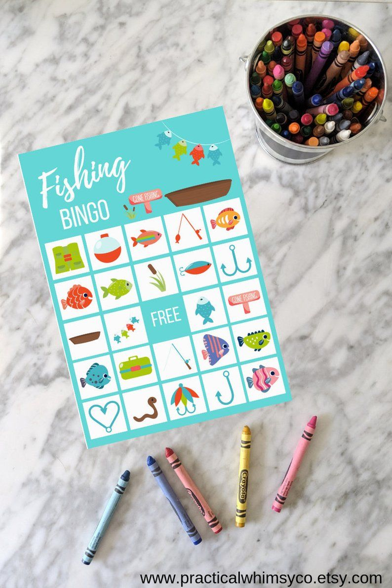 Fishing party printable for 2nd birthday, gone fishing