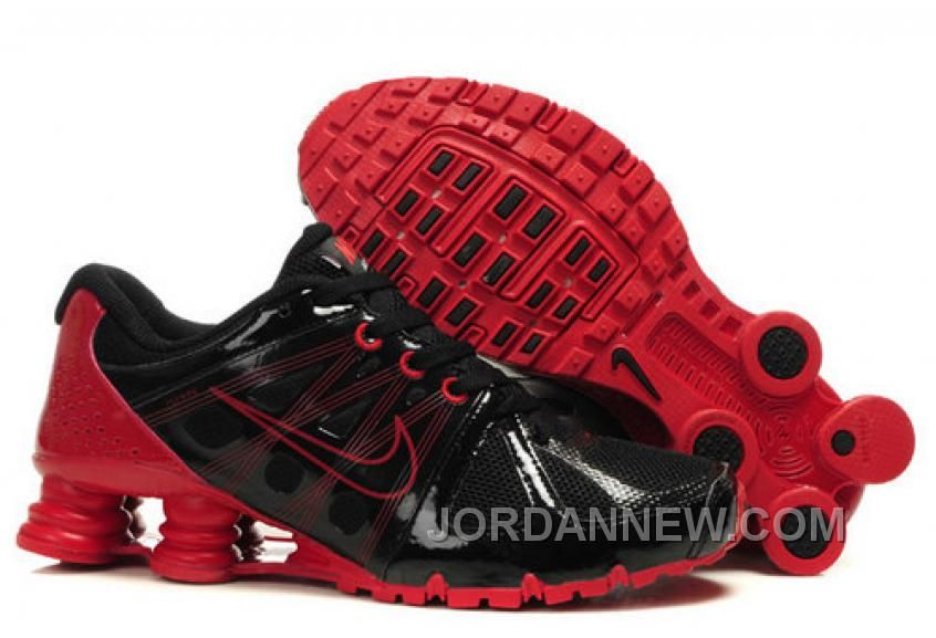 Discount Authentic Mens Nike Airmax 2009   Shox R4 Shoes Black/Sport Red
