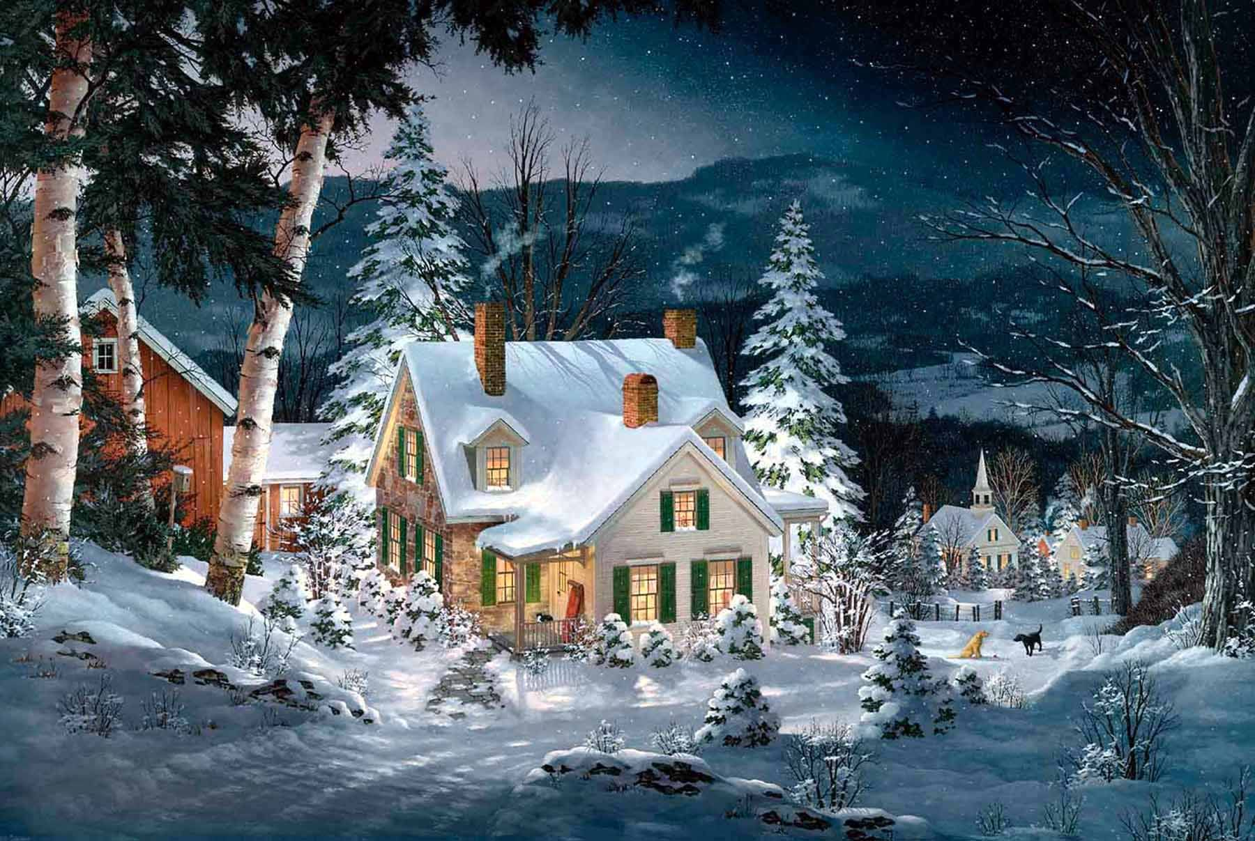 Friends in Winter by Fred Swan   holiday: Home for *Christmas ...