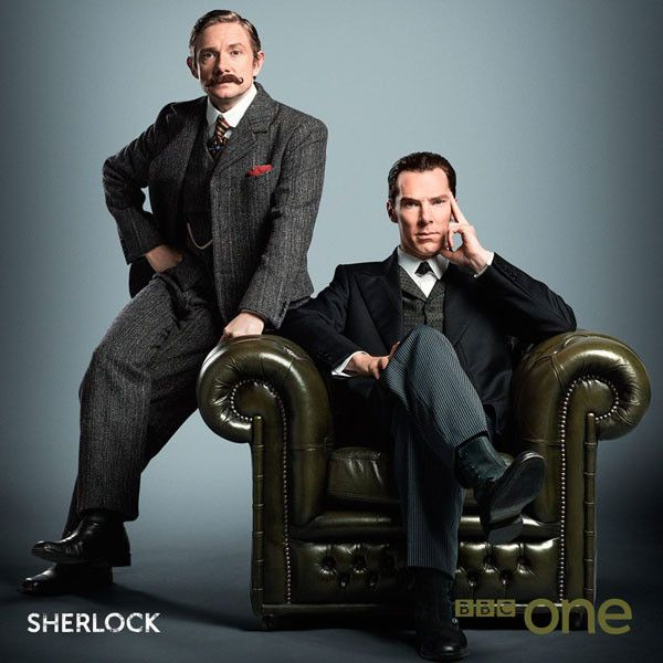 This New Sherlock Photo From the Victorian Special Will Delight You—Look at Those Suits!  Sherlock