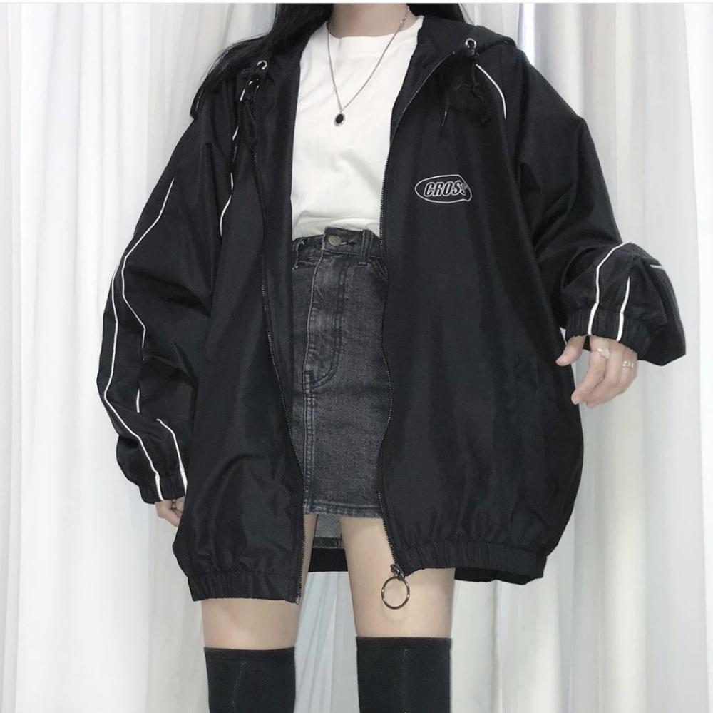Chic Oversize Bomber Jacket Milkteas Korean Street Fashion Aesthetic Clothes Fashion Inspo Outfits [ 999 x 1000 Pixel ]