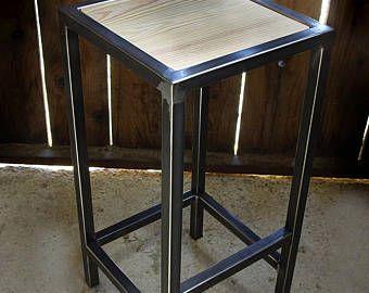 tabouret chaise bar fer bois industriel - Tabouret Bar Fer