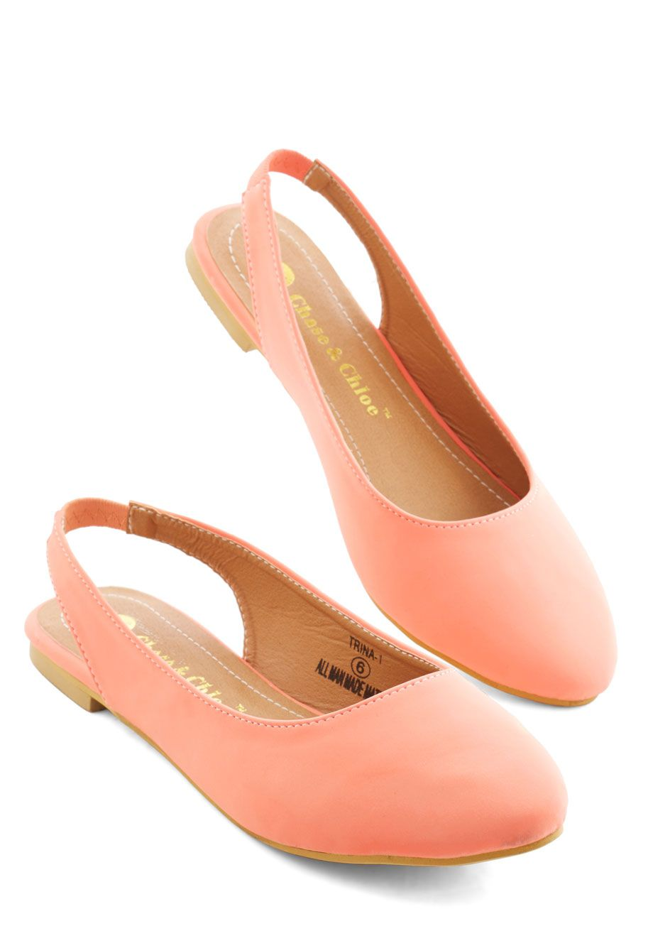 0a7d5c08693 Go-To Glamour Flat in Peach. Day in and day out