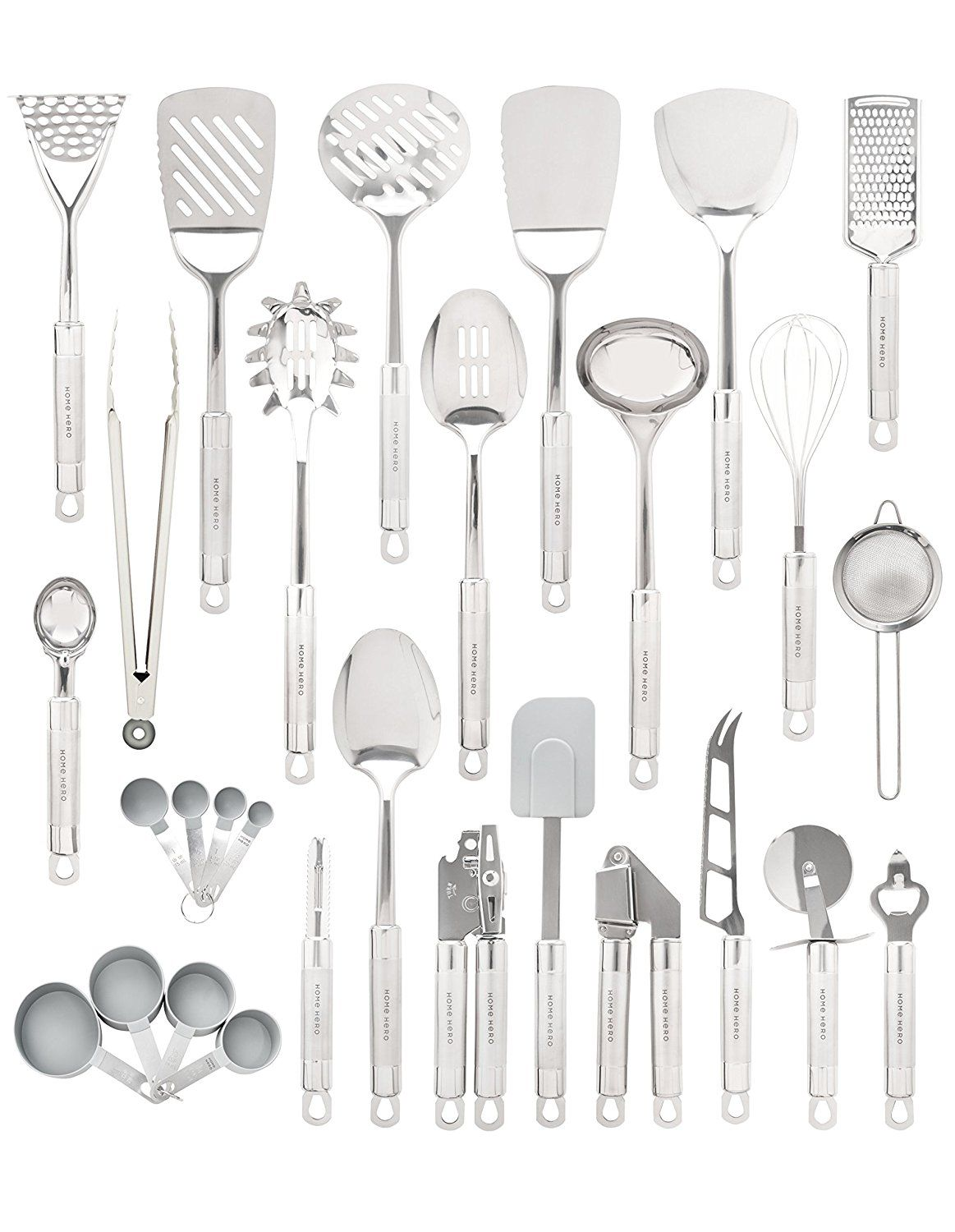 Amazon.com: HomeHero 29-Piece stainless-steel Kitchen ...