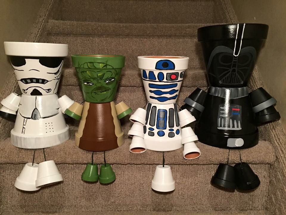 star wars pot people gartenaccessoires pinterest tont pfe deko und basteln. Black Bedroom Furniture Sets. Home Design Ideas
