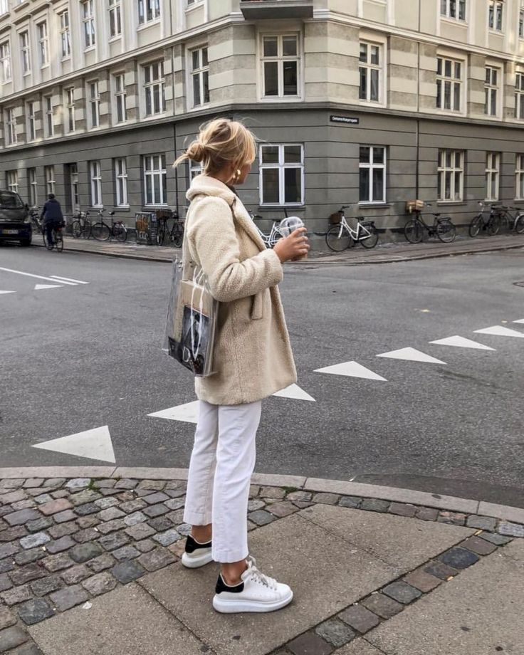 awesome 50 How to Wear White Jeans For Winter Season to