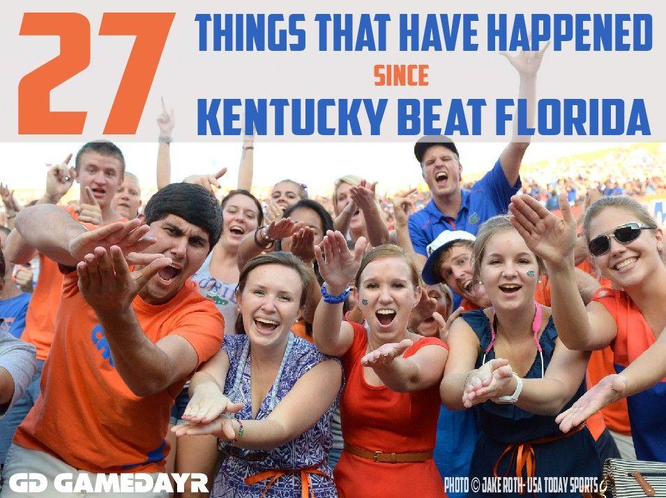 Florida S Winning Streak Against Kentucky 27 Things That Have