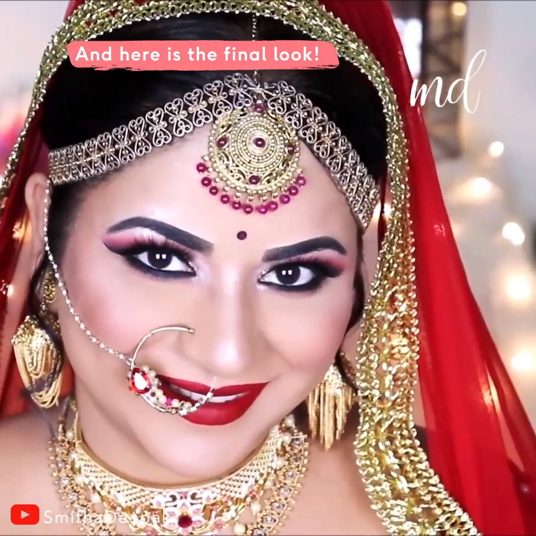Breathtaking Indian bridal makeup that shows your absolute best on your wedding day! By:@smithadepak