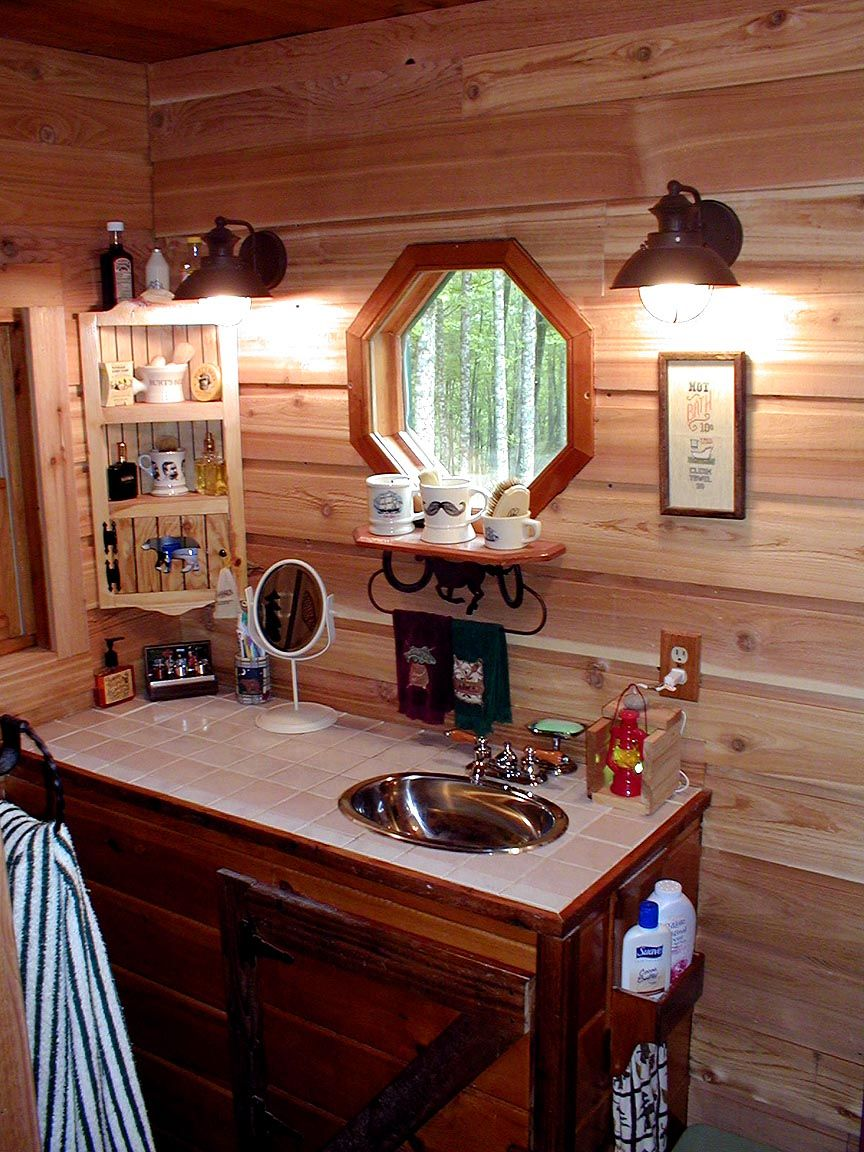Log Cabin Outhouse Bathroom Oak Kitchen Cabinets Oak Kitchen Painting Cabinets