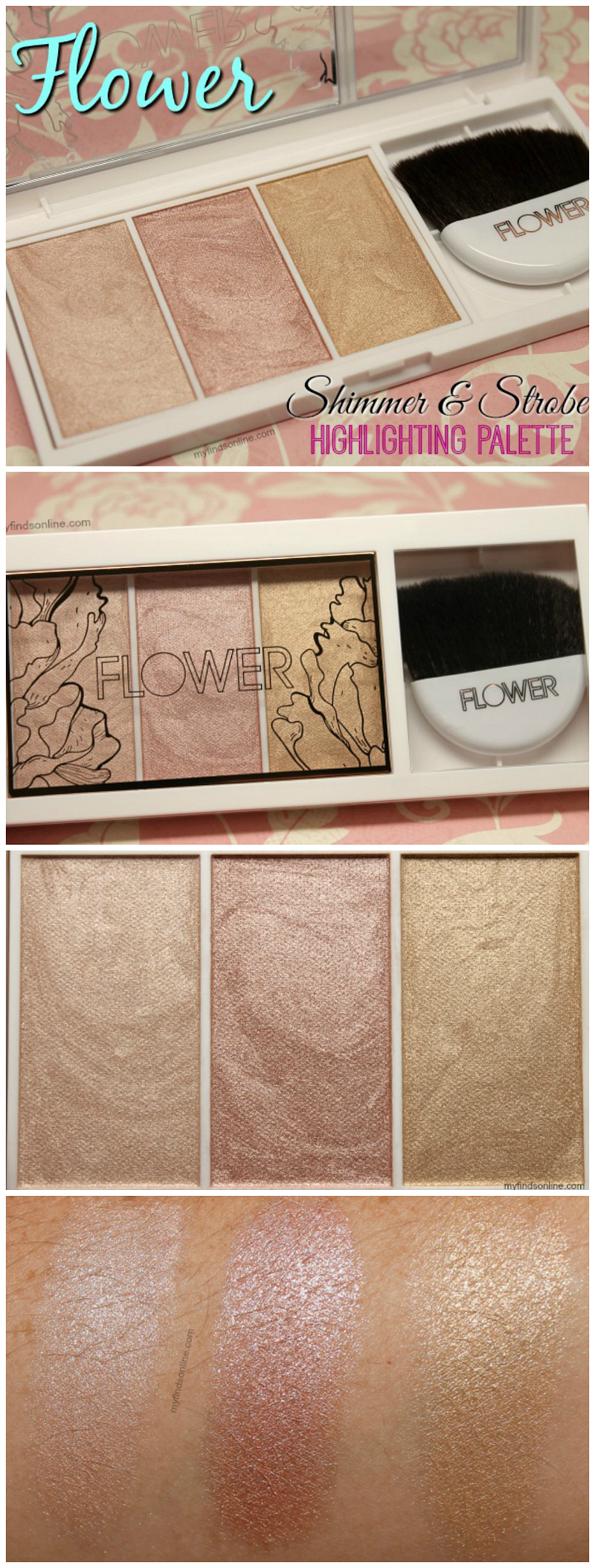 Flower beauty shimmer strobe highlighting palette review swatches flower beauty shimmer strobe highlighting palette pics review and swatches myfindsonline izmirmasajfo