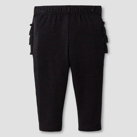3836ff3f3cb6d Baby Girls' Sold Ruffle Bum Legging Baby Cat & Jack™ - Black : Target