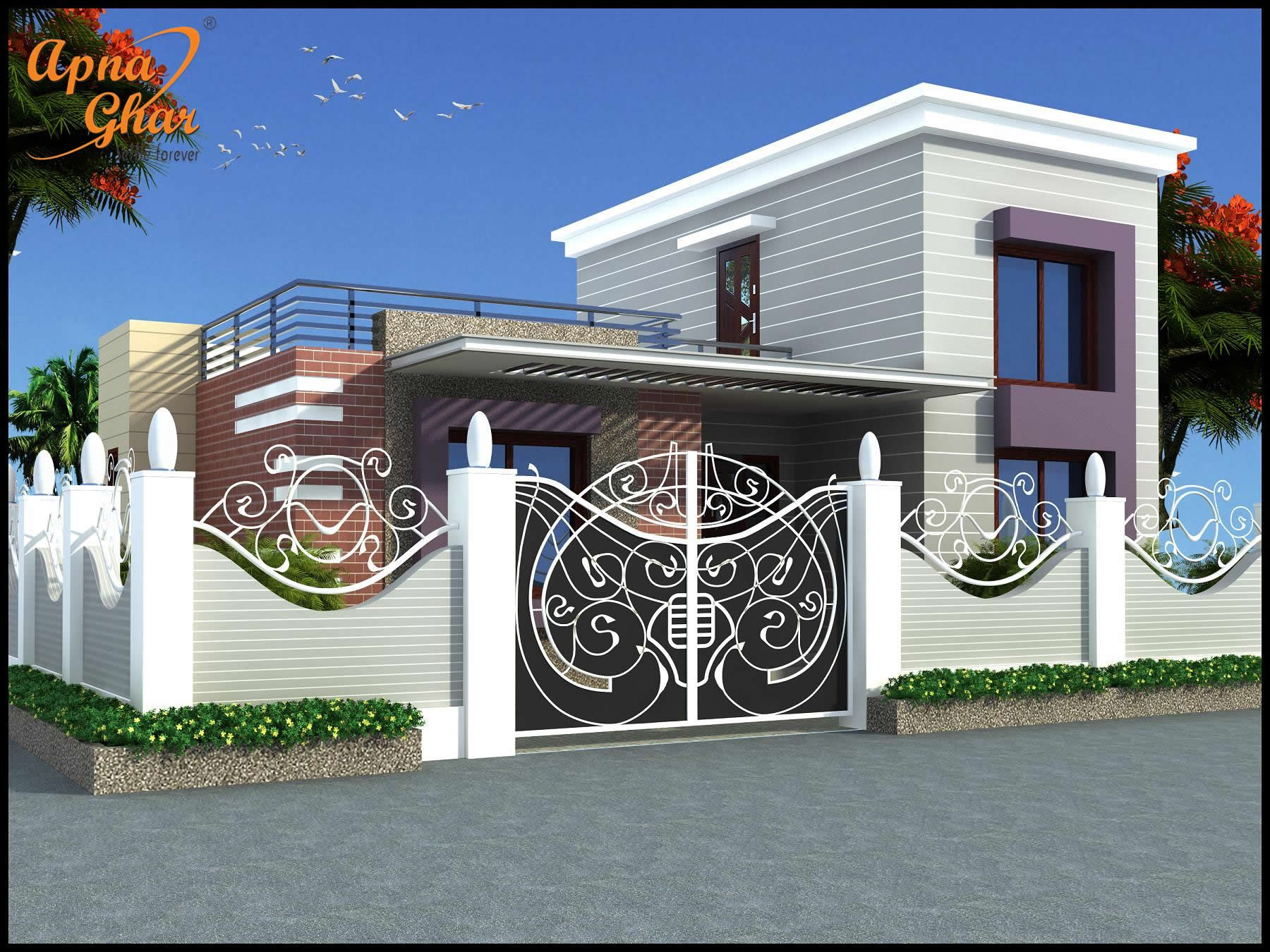 simple 3 bedroom house plans%0A   Bedrooms Simplex House Design in    m     m X   m    bedroom  modern