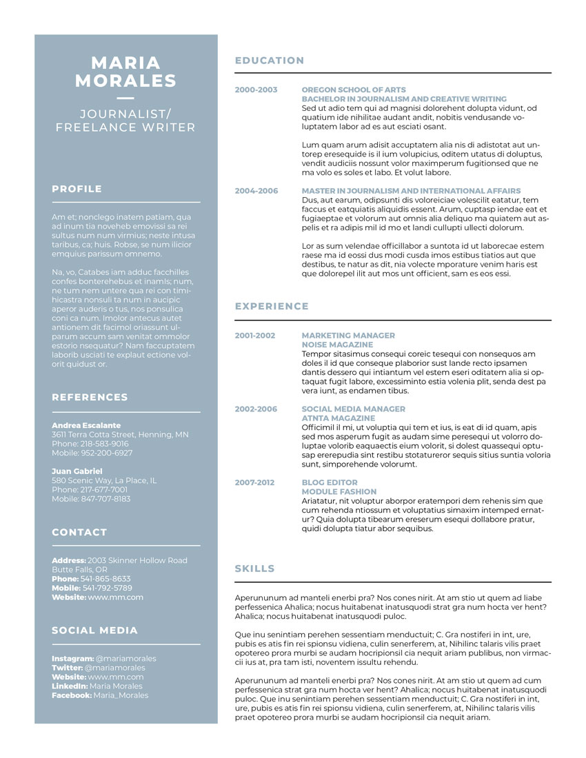How to Make a Resume Template (Free Resume