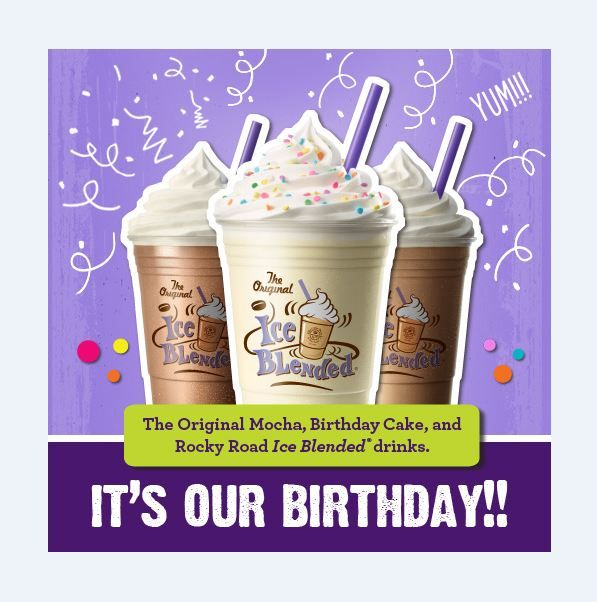The Coffee Bean Tea Leaf Official Store Blended Drinks Tea Leaves Happy 50th Birthday
