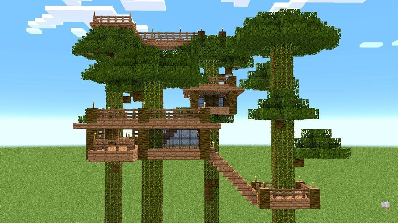 Minecraft How To Build A Tree House Youtube Minecraft