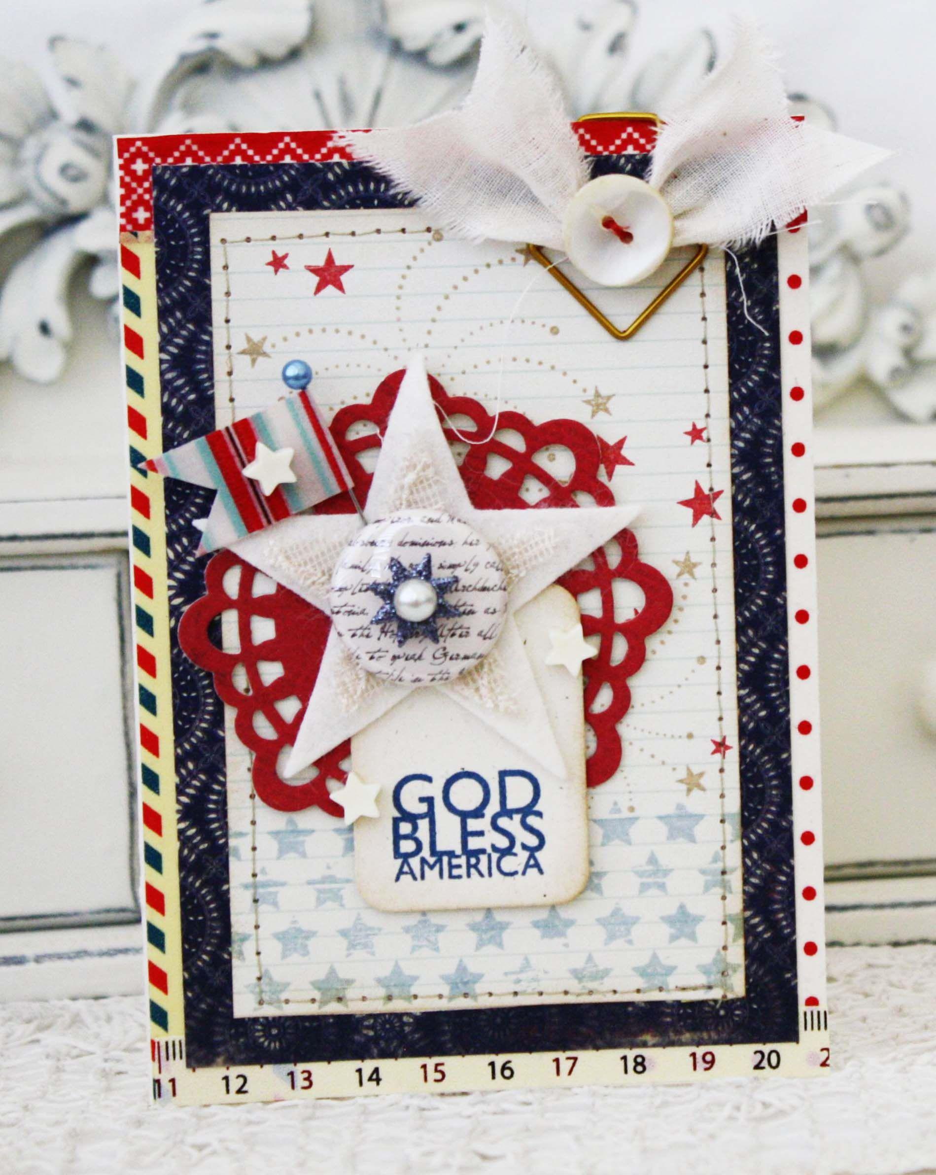 God Bless America Cards Handmade Beautiful Handmade Cards Paper Crafts Cards
