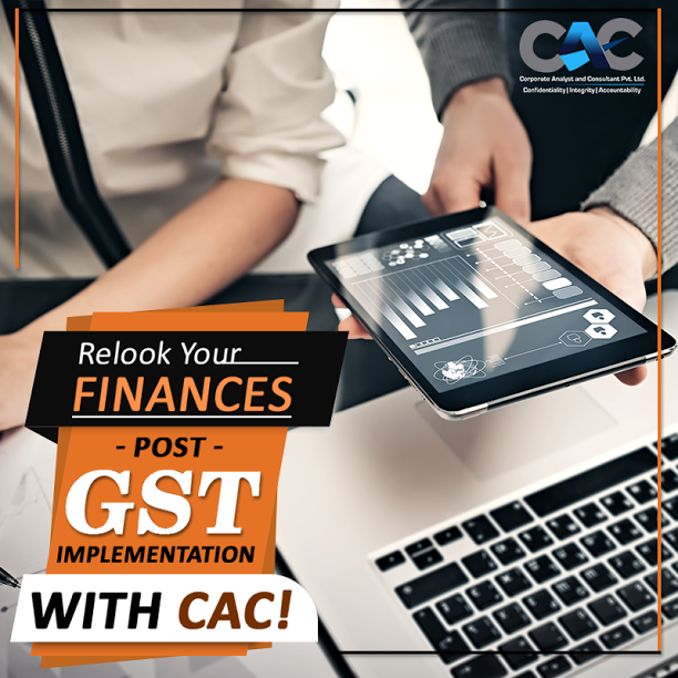 Implementation of the new GST system is sure to impact each business finances? Understand the impact of GST on the finances of your organization and make wise moves. Visit www.cac.net.in for more information. #CAC #gst #gstbill #business #finance #advisor #consultant #accountant