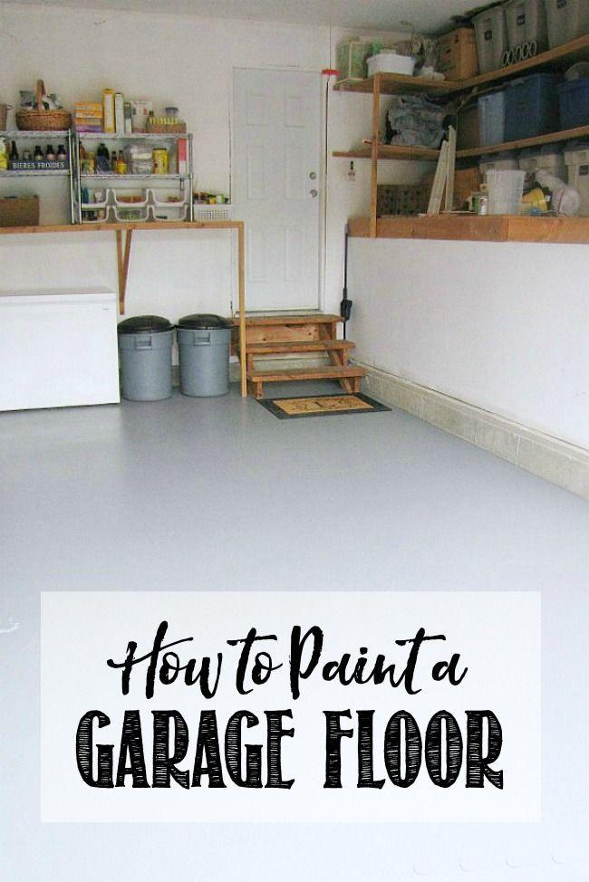 How to Paint a Garage Floor | Garage floor paint, Garage floor, Flooring