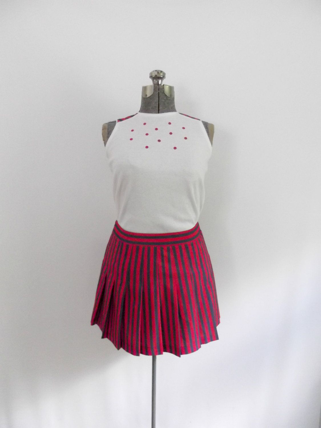 Vintage S Tennis Skirt Blouse Set Sports By