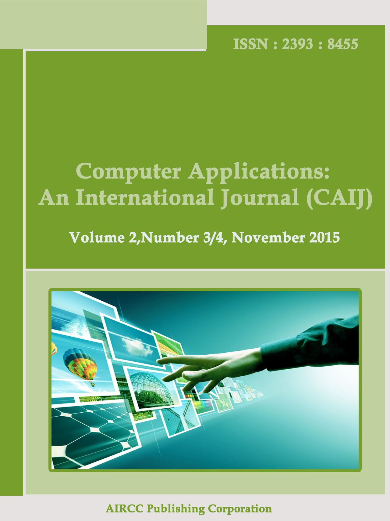 Computer applications an international journal caij is a quarterly open access peer reviewed journal that publishes articles which contribute new results